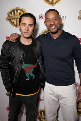 LAS VEGAS, NV - APRIL 12: Actors Jared Leto and Will Smith of 'Suicide Squad' attend CinemaCon 2016 Warner Bros. Pictures Invites You to ?The Big Picture?, an Exclusive Presentation Highlighting the Summer of 2016 and Beyond at The Colosseum at Caesars Palace during CinemaCon, the official convention of the National Association of Theatre Owners, on April 12, 2016 in Las Vegas, Nevada. (Photo by Todd Williamson/Getty Images for CinemaCon)