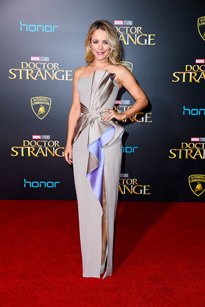 "HOLLYWOOD, CA - OCTOBER 20: Actress Rachel McAdams attends the Premiere of Disney and Marvel Studios' ""Doctor Strange"" on October 20, 2016 in Hollywood, California. (Photo by Frazer Harrison/Getty Images)"