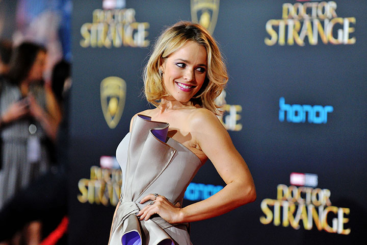 HOLLYWOOD, CA - OCTOBER 20: Actress Rachel McAdams arrives at the Premiere of Disney and Marvel Studios' 'Doctor Strange' on October 20, 2016 in Hollywood, California. (Photo by Jerod Harris/WireImage)